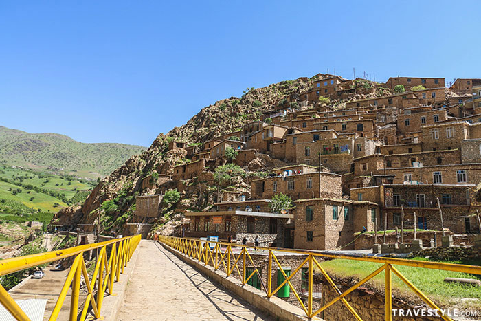 The stepped village of Palangan, Kordistan, Iran.