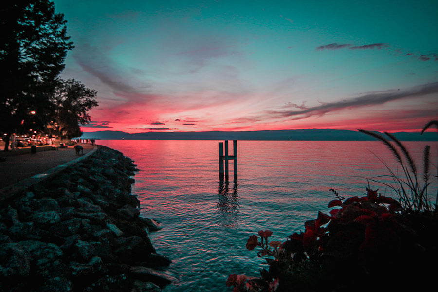Lac Leman from Evian - Switzerland itinerary