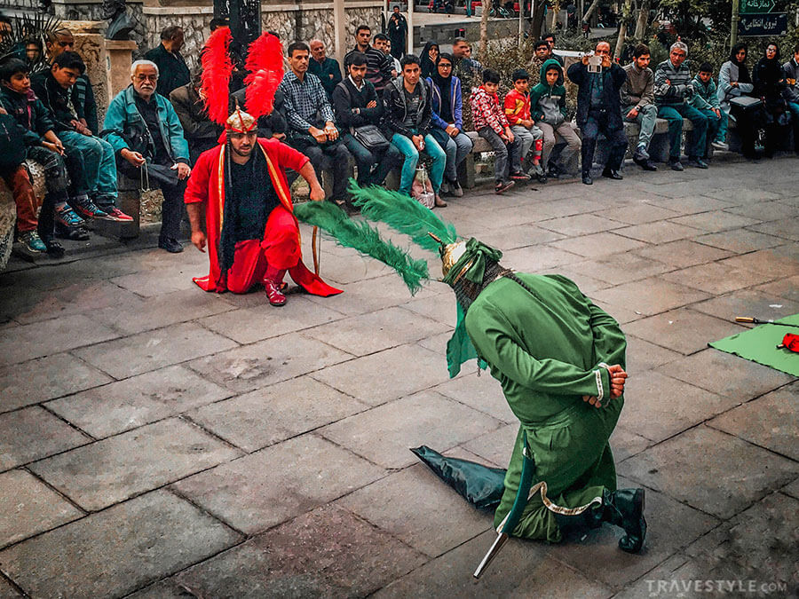 The religious play of Tazieh on the day of Ashura in Iran