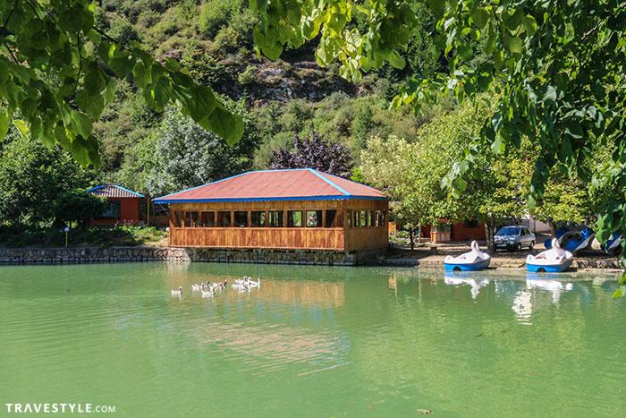 The restaurant down the lake - Javaher Deh, Iran