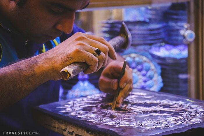 Iranian souvenirs: Handicrafts from Esfahan