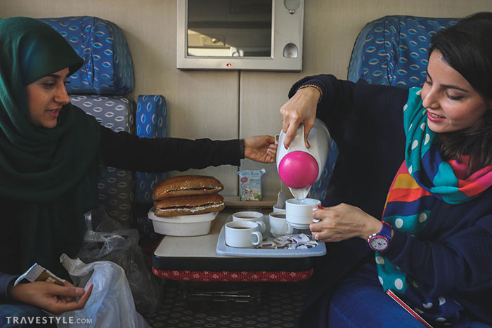 Breakfast on the train - A trip to Bandar Abbas and Hormoz island