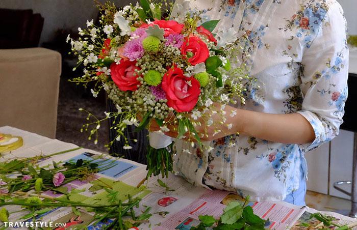 bouquet arrangement for a Persian wedding