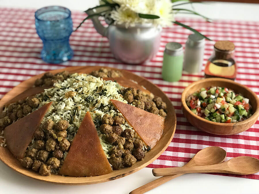 Kalam Polo Persian food