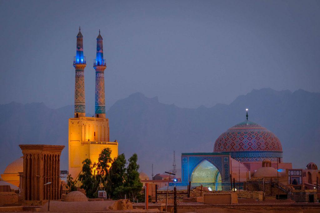 Jameh Mosque of Yazd at night | Yazd, Iran