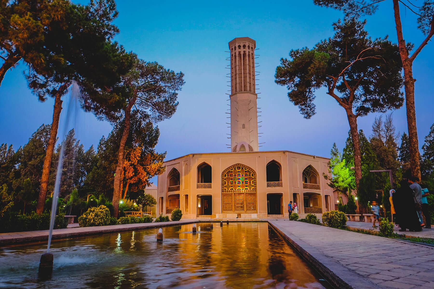 Dowlat Abad garden of Yazd, Iran