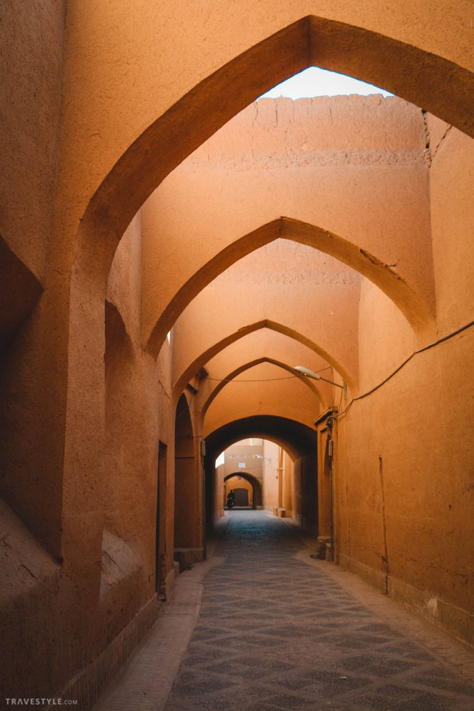 Streets of old town Yazd, Iran