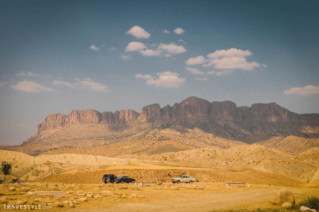 The road to Lorestan province, Iran