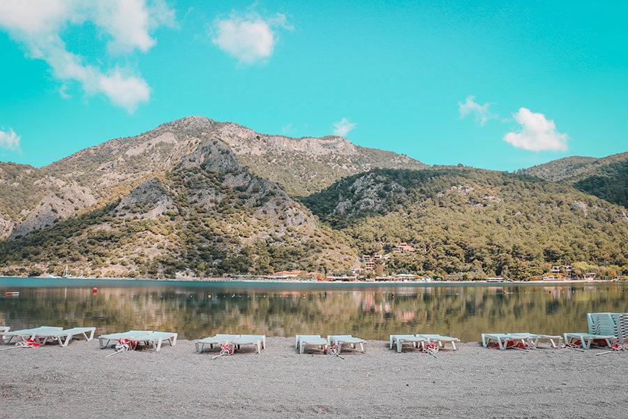 The blue lagoon at Fethiye, Turkey