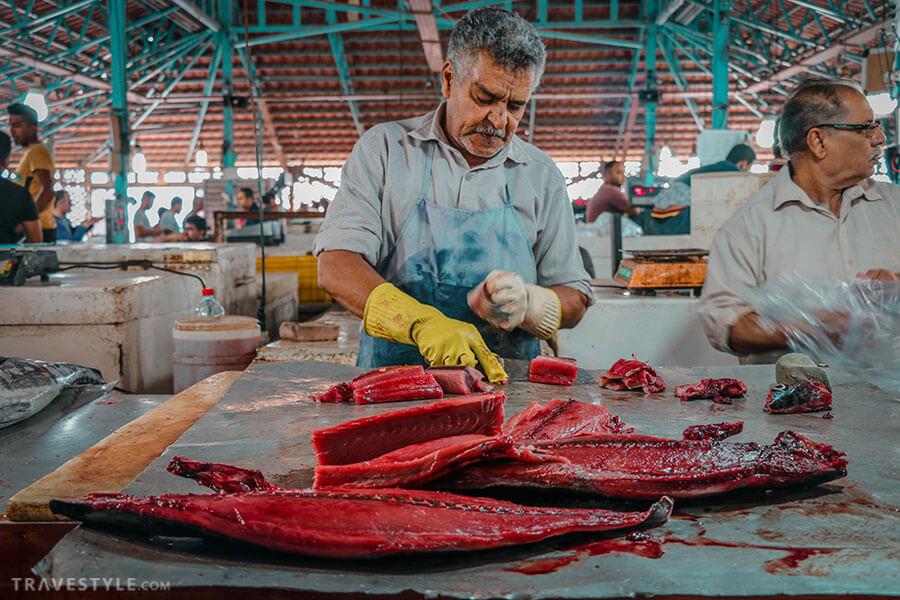 Bandar abbas fish market, Iran bazaars