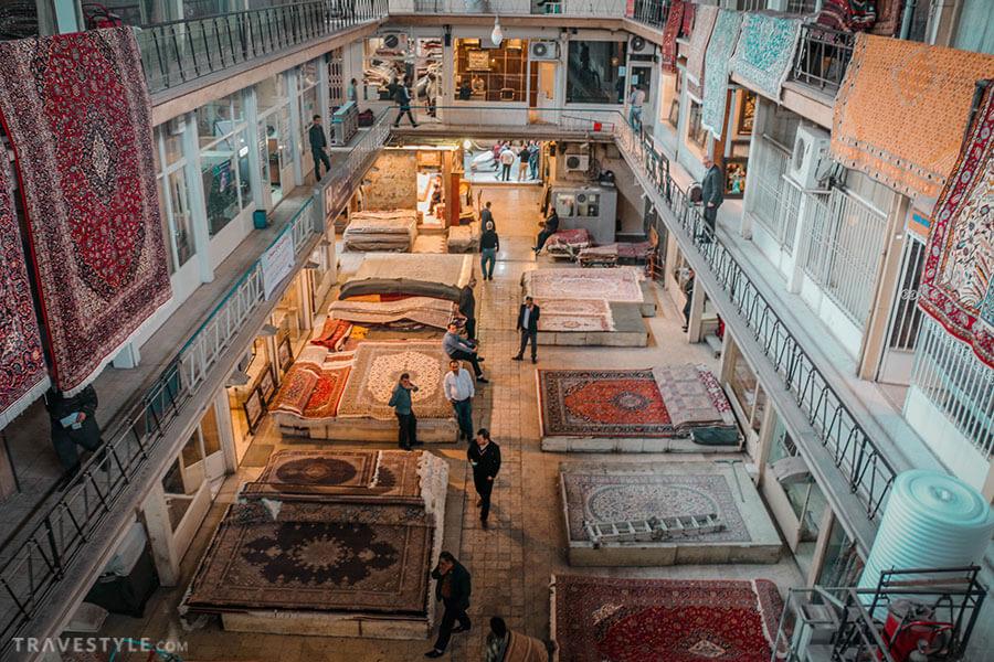 Tehran carpet bazaar, bazaars in Iran