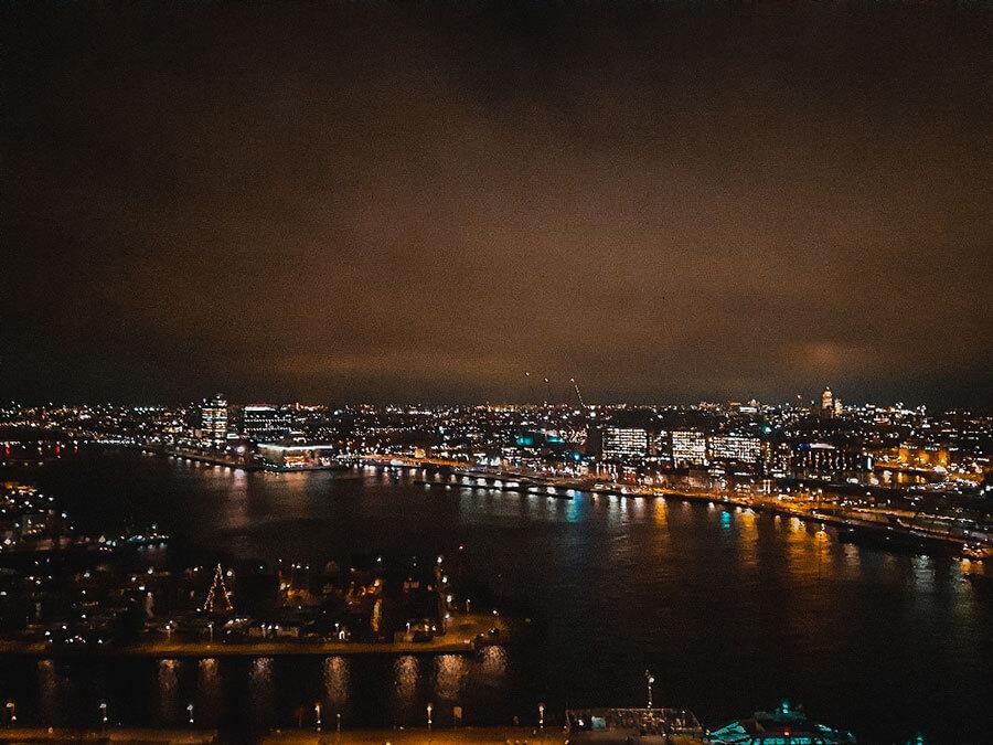 Visiting Amsterdam at night